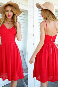 In The Big Red Strap Dress Sexy Cultivate One's Morality Dress MYJ