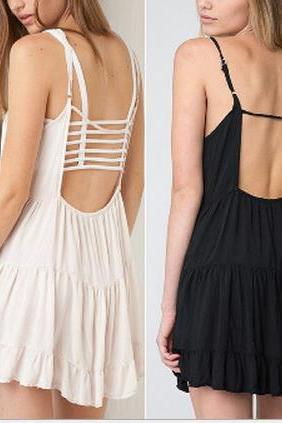 on sale HOT BACKLESS COTTON DRESS