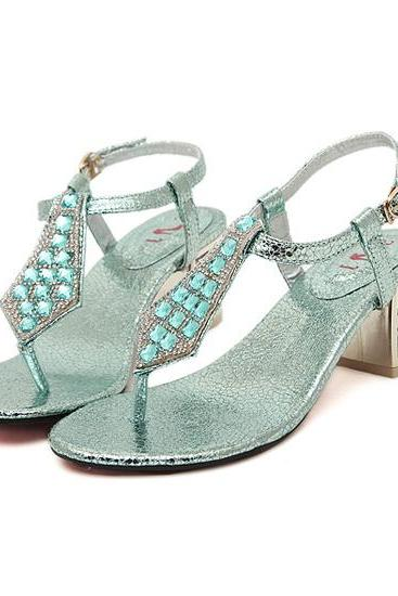 Gorgeous Diamond Studded Fashion Sandals In 3 Colors