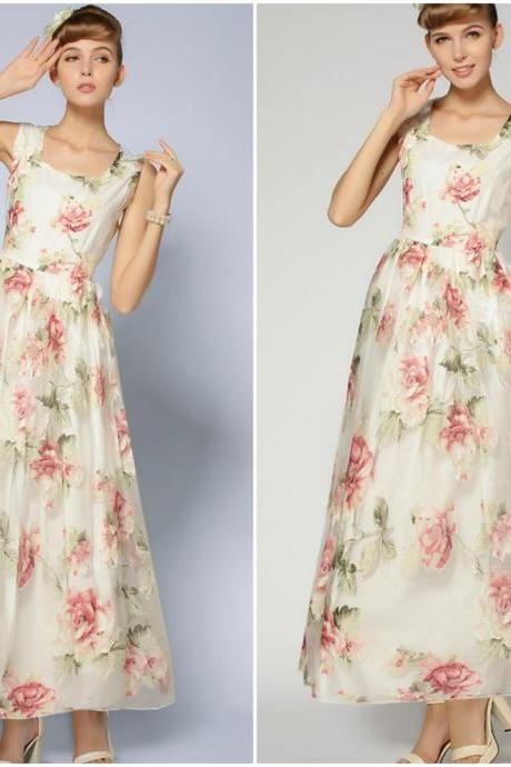 Fabulous Vintage Style Floral Sleeveless Dress