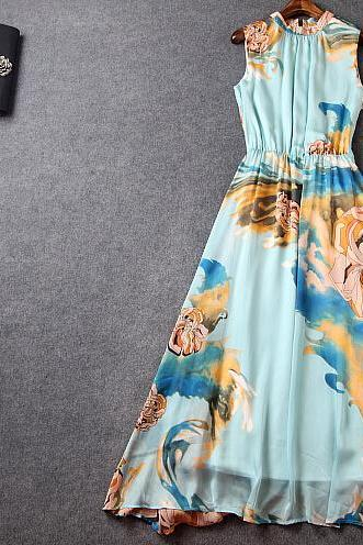 Palace restoring ancient ways is a blue print dress dress