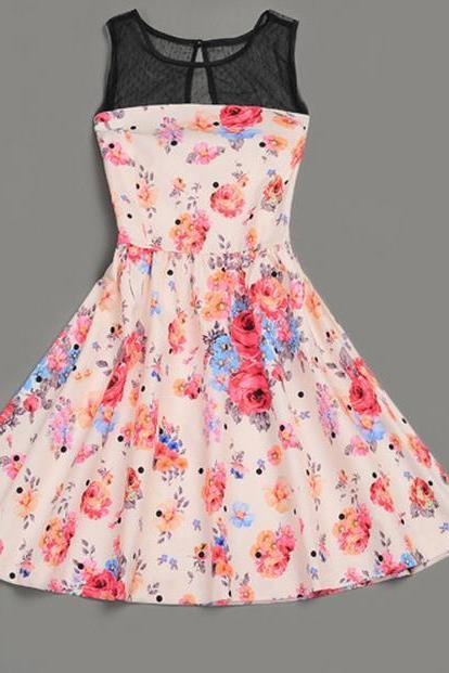 HOT NET FLOWER SUPER CUTE DRESS