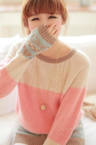 Jacquard Love Knot Sweater