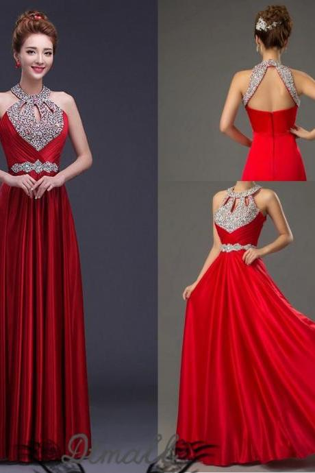 Prom Dresses 2015 Evening Dress Beads Graduation Dress Party Dress Custom Dress S104