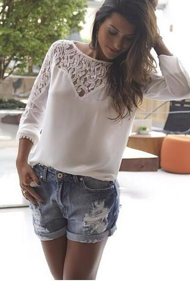 HOT LACE SHIRT TOP