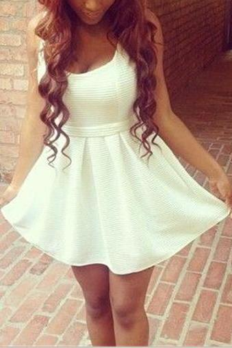 High Quality Sweet Sweetheart Hollow Dress, Pretty Sweetheart Back Short Dress, Summer Dresses, Sweetheart Dresses