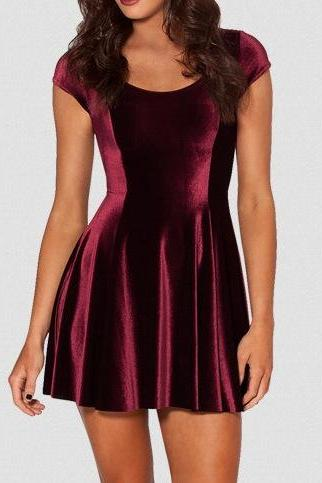 Women Slim Sexy Velvet Dress