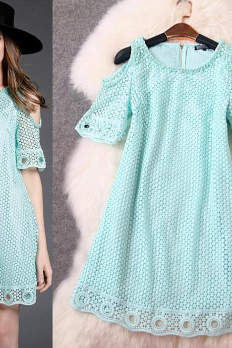 Fashion Water Soluble Embroidery Order Bead Dress 2 Color
