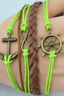 Anchor Series Of Navy Style Diy Color Mixing Anchor Creative Combination Bracelet