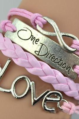 One Direction Love Unlimited Symbols Romantic Bracelet