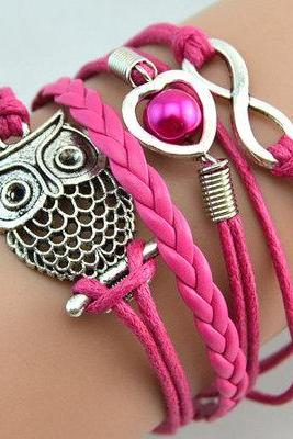Owl Bracelet Multi layered Uniaxial Band One Direction Woven Bracelet