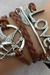 Infinity Bracelet Phoenix In Ancient Bronze Arrows Braided Bracelet