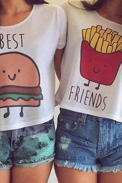 Best Friends Casual Tank Tops T-Shirt
