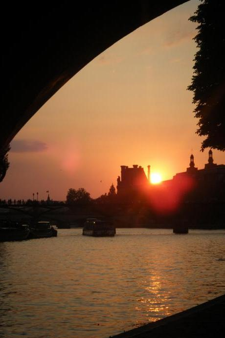 Limited Edition Greetings Card: Sunset on the Seine