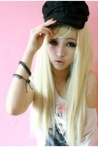 Sexy Platinum Blonde Fashion Wig Hair New Long Straight Wig