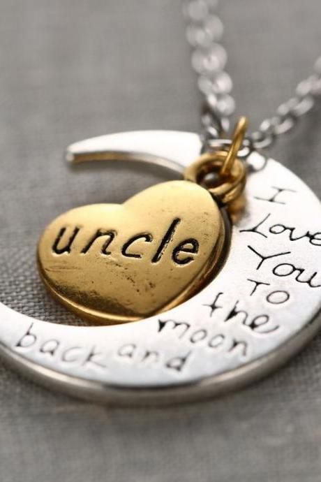 Uncle I Love You To The Moon And Back Necklace