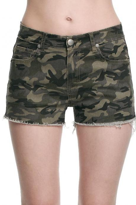 Ladies Camo Shorts Pants