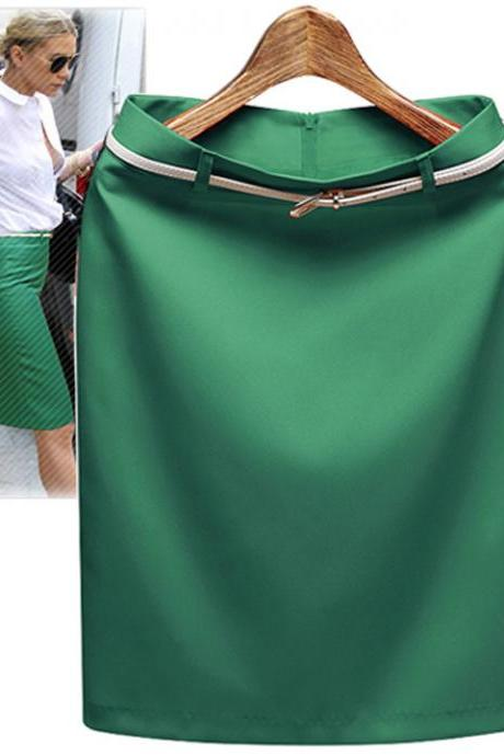 Business Pencil OL Skirt with Belt