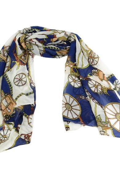 Fashion Women's Wheel Pattern Chiffon Wraps Shawl Silk Scarf