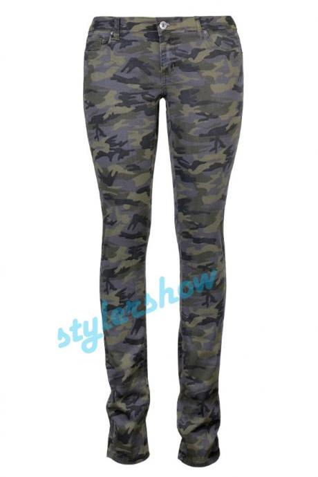 Paragraph Back In Camouflage Feet Pants Women - Rowed Woven Trousers