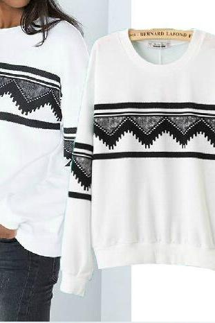 Geometric Print Sweater