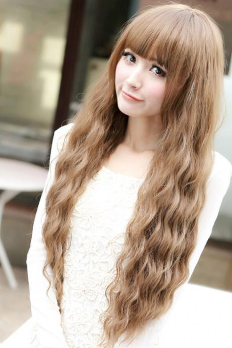 Fashion Women Natural Long Wavy Curly Long Hair Cosplay Party Style Costume Full Wig