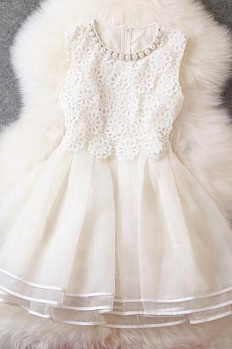 Organza Embroidery Beaded Dress