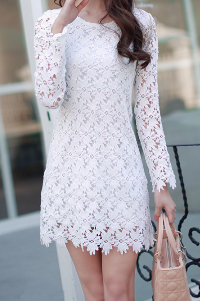 Slim Printed Lace Princess Dress