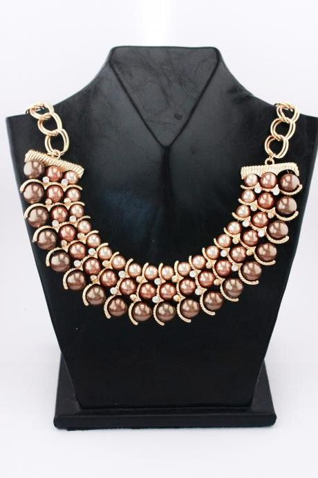 Prom night jewelry woman fashion rhinestone necklace