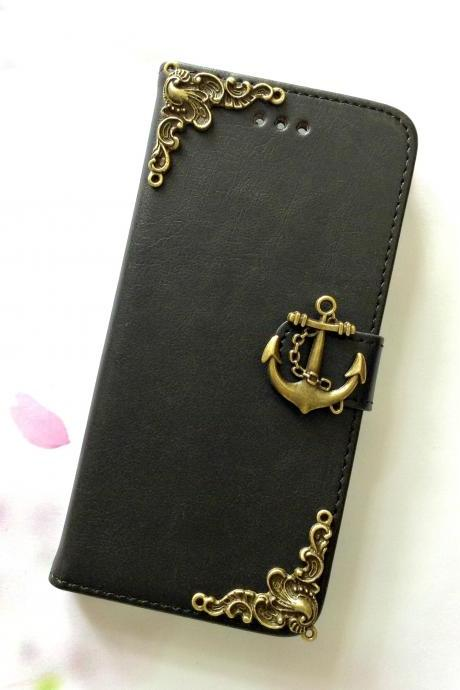 Anchor iphone 6 6s 4.7 leather wallet case, Vintage iphone 6 6s plus leather wallet case, iphone SE, 5c, 5, 5s leather wallet case, samsung galaxy S4, S5, S6, S6 Edge, S7, S7 Edge, Note 3, Note 4, Note 4 Edge, Note 5 leather wallet case, item no.263