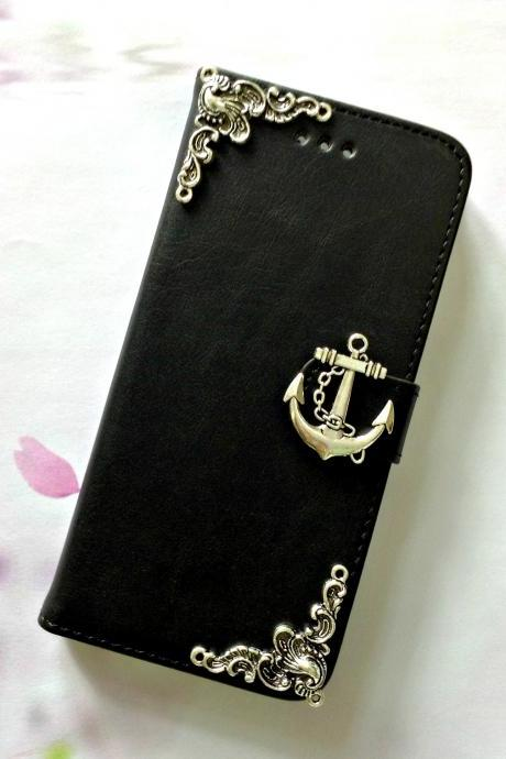 Anchor iphone 6 6s 4.7 leather wallet case, Vintage iphone 6 6s plus leather wallet case, iphone SE, 5c, 5, 5s leather wallet case, samsung galaxy S4, S5, S6, S6 Edge, S7, S7 Edge, Note 3, Note 4, Note 4 Edge, Note 5 leather wallet case, item no.183