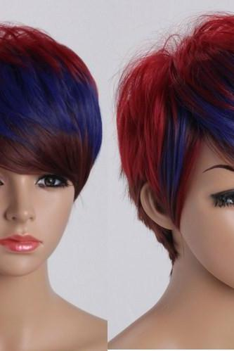 Harajuku short hair Various colors straight wigs Synthetic cosplay Party Wig