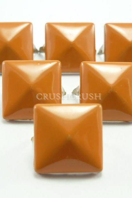 50x12mm Orange Color PYRAMID Studs Punk Rock Biker Spikes spots S1112
