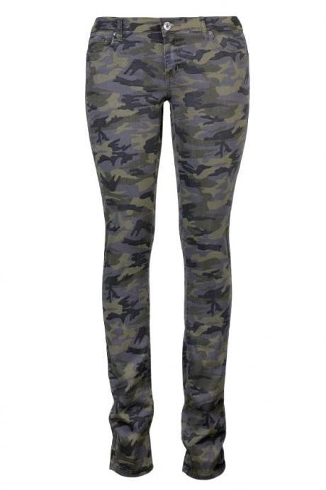 Paragraph Back In Camouflage Feet Pants Women - Rowed Woven Trousers IDYU7K45HQ1PRSR67VIYR