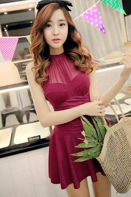South Korea New Cute fashion Swim Dress Vara A Line dress Swimsuit bathing suit women swimwear