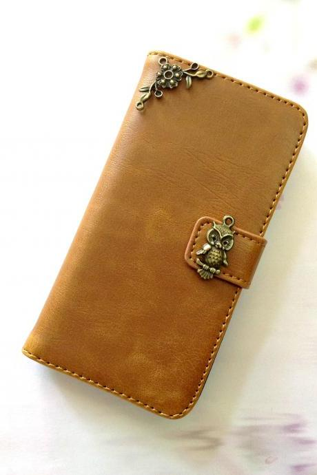 Owl iphone 6 4.7 leather wallet case, Vintage iphone 6 plus leather wallet case, iphone 5c, 5, 5s leather wallet case, samsung galaxy S3, S4, S5, S6, S6 Edge, Note 3, Note 4, Note 4 Edge leather wallet case, item no.159