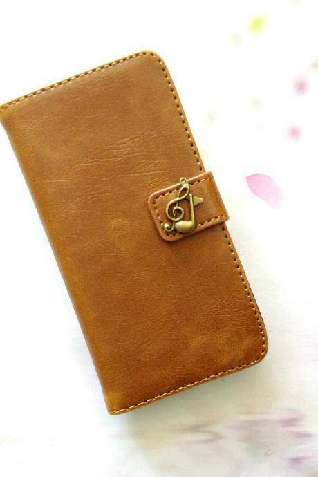 Music note iphone 6 6s 4.7 leather wallet case, Vintage iphone 6 6s plus leather wallet case, iphone SE, 5c, 5, 5s leather wallet case, samsung galaxy S4, S5, S6, S6 Edge, S7, S7 Edge, Note 3, Note 4, Note 4 Edge, Note 5, leather wallet case, item no.279