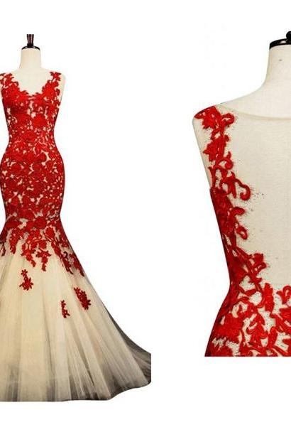 Mermaid Prom Dresses , Red Prom Dresses,Mermaid Wedding Dresses,Long Wedding Dresses,Evening Dresses 2015,Long Prom Gowns,Long Wedding Gowns