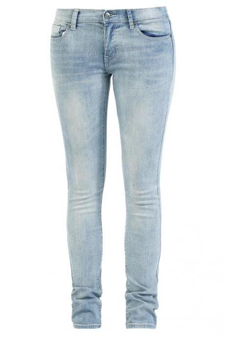Ladies' Knife-Like Denim Light Trousers