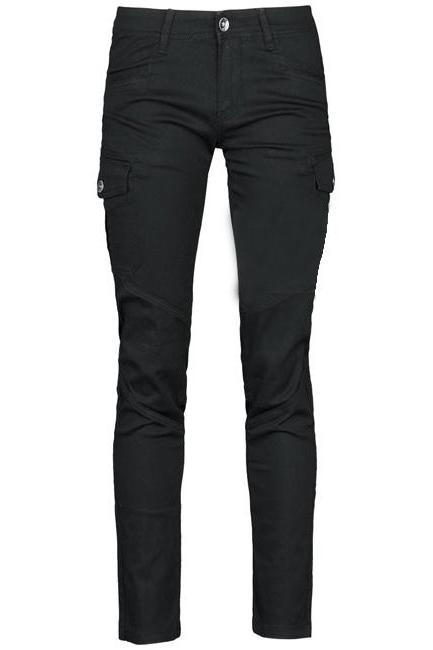 Ladies' Slim Black Ca-Like Denim Trousers