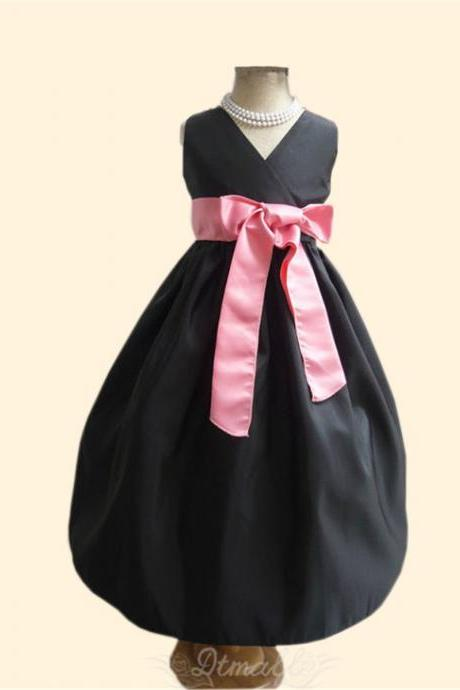 2015 Fashion Children's Dress Wedding Bridesmaid Party Birthday Dress Flower Girl Gown S131