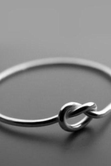 Infinity Heart Knot Ring