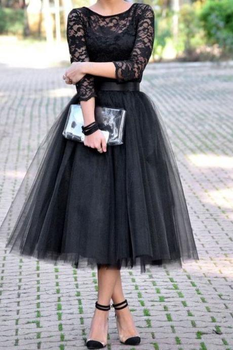 The Black Lace Prom Dresses, The Charming Evening Dresses, Prom Dresses, Real Made Prom Dresses On Sale,