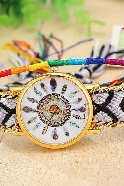 Indian casual traveler cloth strap watch