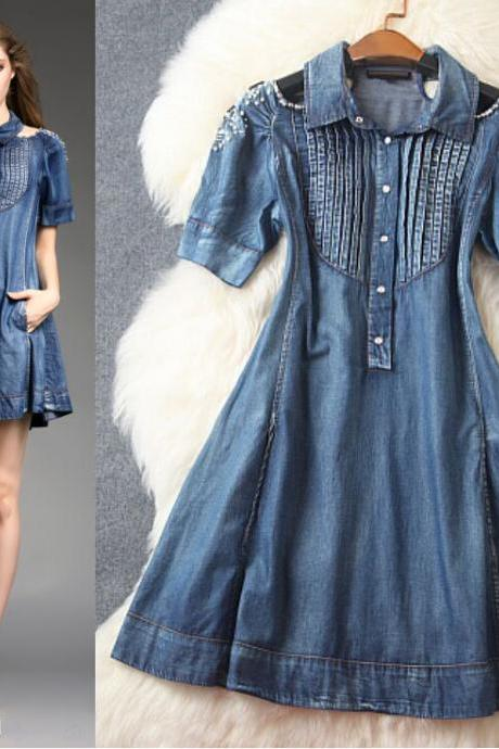 Fashion Lapel Cowboy Dress