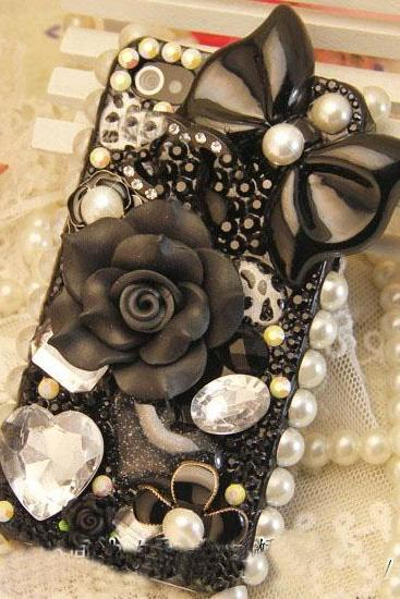 Cute floral rhinestone bow Hard Back Mobile phone Case Cover Rhinestone Case Cover for iphone 6s plus case,iphone 6c case,samsung galaxy s6 edge case,samsung galaxy note5 case,iPhone 4 4s 5 7 5s 6 6 plus Samsung galaxy s7 s4 s5 s6 note10 5 4