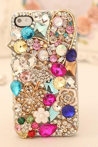 Luxury Multicolor flower crystal Hard Back Mobile phone Case Cover bling Rhinestone Case Cover for iphone 6s plus case,iphone 6c case,samsung galaxy s6 edge case,samsung galaxy note5 case iPhone 4 4s 5 7plus 5s 6 6 plus Samsung galaxy s7 s4 s5 s6 note10 4