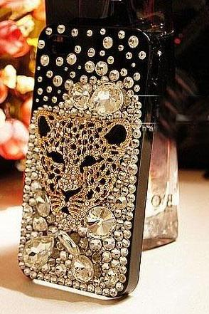 6c 6s plus Leopard head rhinestone Hard Back Mobile phone Case Cover sparkly Case Cover for iPhone 4 4s 5 7plus 5s 6 6 plus Samsung galaxy s7 s4 s5 s6 note5 4