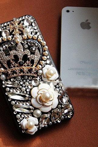 6c 6s plus Luxury diamond Crown Flower Hard Back Mobile phone Case Cover girly Rhinestone Case Cover for iPhone 4 4s 5 7 5s 6 6 plus Samsung galaxy s7 s5 s6 note4 5 10