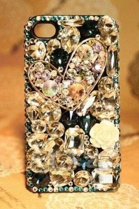 6c 6s plus Luxury heart diamond Hard Back Mobile phone Case Cover girly bling Rhinestone Case Cover for iPhone 4 4s 5 7 5s 6 6 plus Samsung galaxy s7 s4 s5 s6 note5edge 4